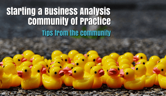 Starting a Business Analysis Community of Practice : tips from the community